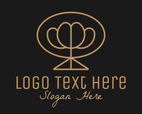 Bouquet - Simple Gold Flower Bouquet logo design