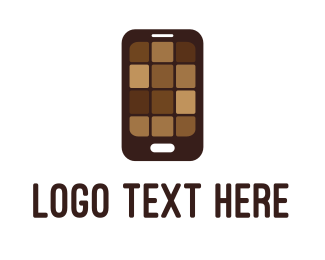 Brownies - Chocolate Phone logo design