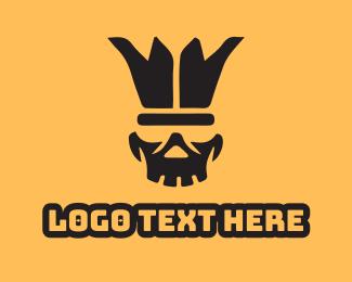 Clown - Buffoon Skull logo design