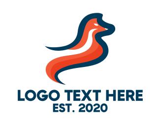 Jackal - Stylish Orange Fox logo design