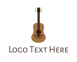 Folk - Root Guitar logo design