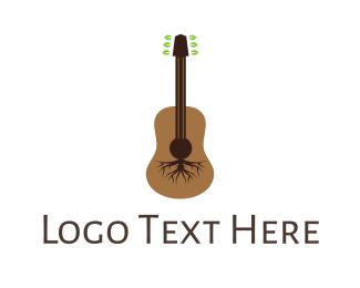Root - Root Guitar logo design