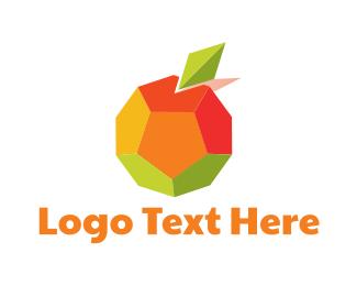 Green And Orange - Geometric Orange logo design