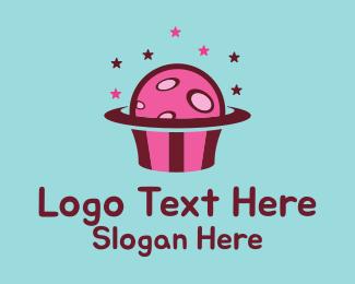 Cupcake - Space Cupcake Muffin logo design