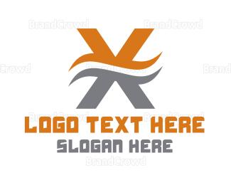Branding - Wavy Letter X logo design