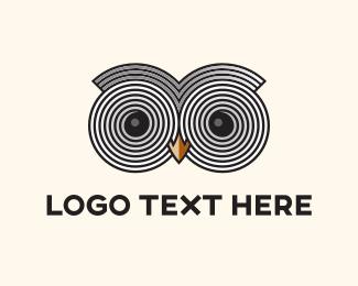 Wise - Owl Eyes logo design