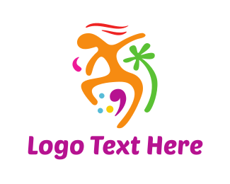 Dancing - Colorful Vacation logo design