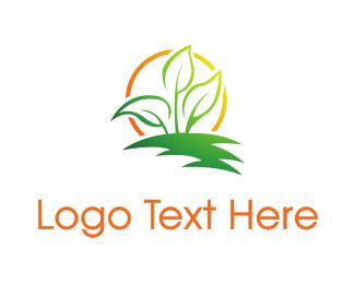 Therapist - Sun Leaf logo design