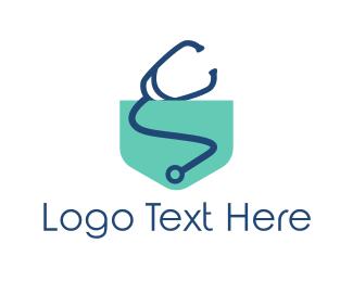 Stethoscope - Medical Pocket logo design