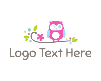 Childrens - Cute Owl logo design