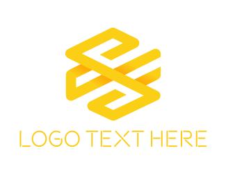 Beehive - Hexagonal Letter S logo design
