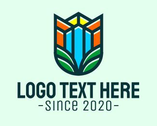 Architecture - Agriculture Building Letter U logo design
