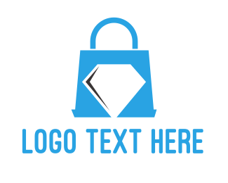 Purse - Diamond Shopping  logo design