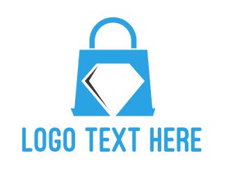 Purse - Diamond Shopping logo design