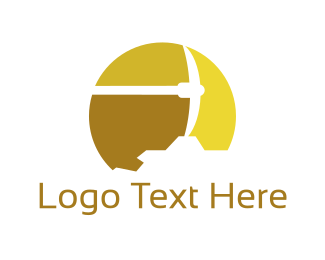 Gold - Gold Pickaxe logo design