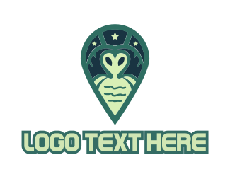 Stylized - Green Alien logo design
