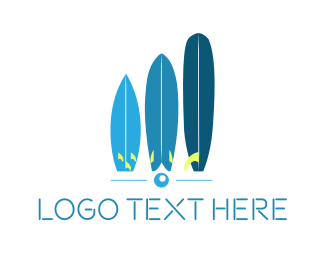 California - Blue Surfboards logo design