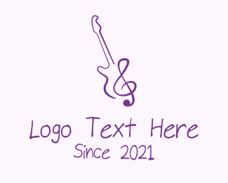 Music Tutor - Electric Guitar Music logo design