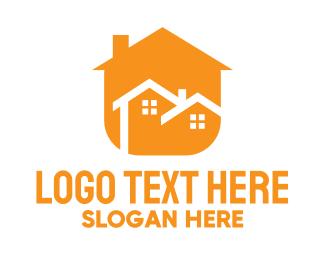 Chimney - Modern Duplex Home logo design