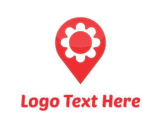 Pin - Flower Map logo design