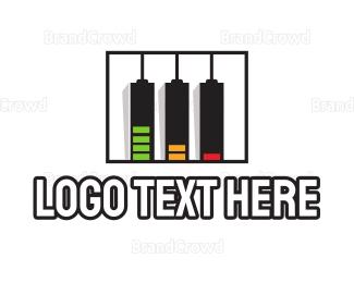 Stereo - Music Battery logo design