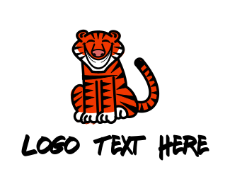 Hello - Smiling Tiger logo design