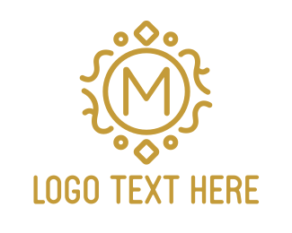 Gold Luxury M Logo
