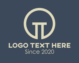 Lawyer - Elegant Concrete Column logo design