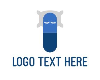 Pillow - Capsule Nap logo design