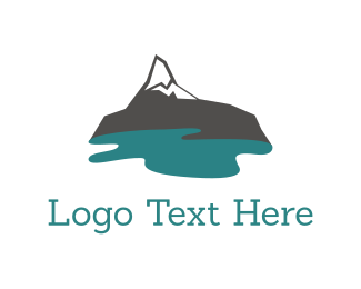 Snow - Mountain Lake logo design