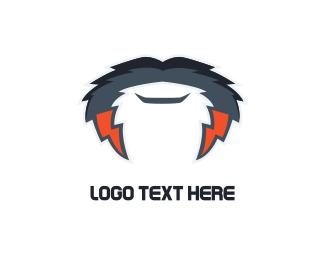 Barber - Electric Mustache logo design