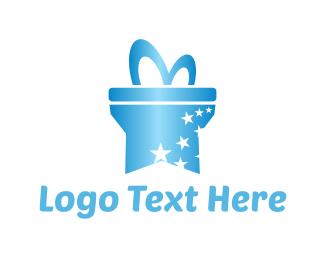Birthday - Star Gift  logo design