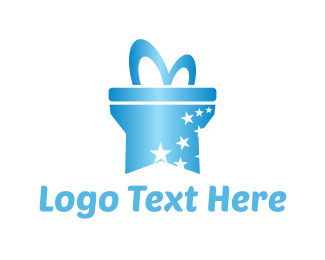 Present - Star Gift  logo design