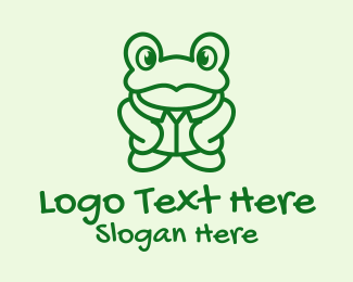 Wink - Green Frog Cartoon logo design