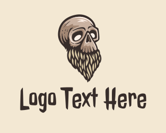 Mob - Beard Skull Tattoo logo design