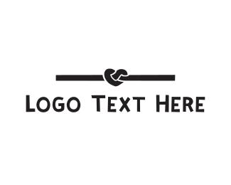 Thread - Black Heart Knot logo design
