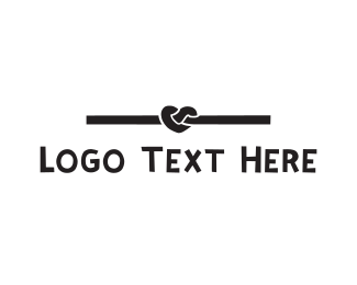 Knot - Black Heart Knot logo design