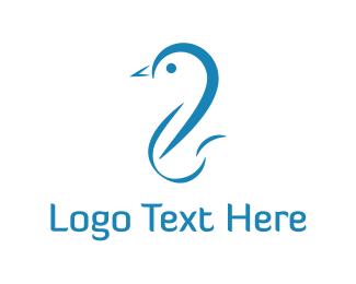 Duckling - Blue Duck logo design