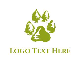 Footprint - Green Paw logo design
