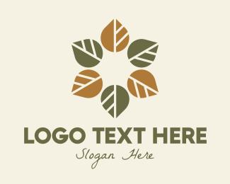 Autumn - Leaf Autumn Wreath logo design