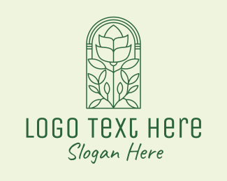 Foliage - Minimalist Rose Window  logo design