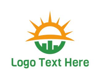 Businessman - Sun Statistics logo design