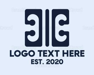 Double - Modern Double C Monogram logo design