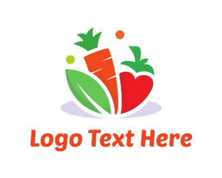 Carrot - Vegetable Food logo design