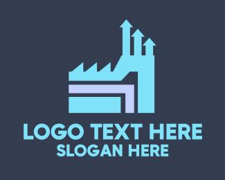 Factory - Industrial Factory logo design