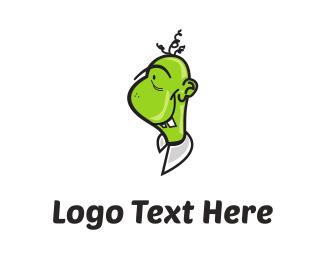 Friendly - Green Monster Cartoon logo design