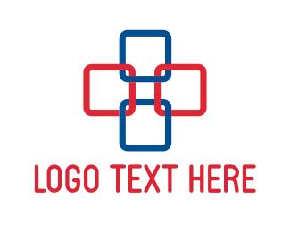 Link - Square Cross logo design