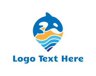 Sperm Whale - Blue Whale Pin logo design