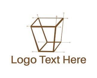 Measure - Isometric Draw logo design