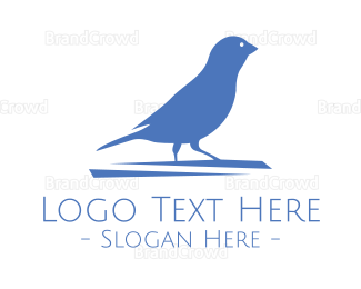 Conservation - Small Blue Bird  logo design